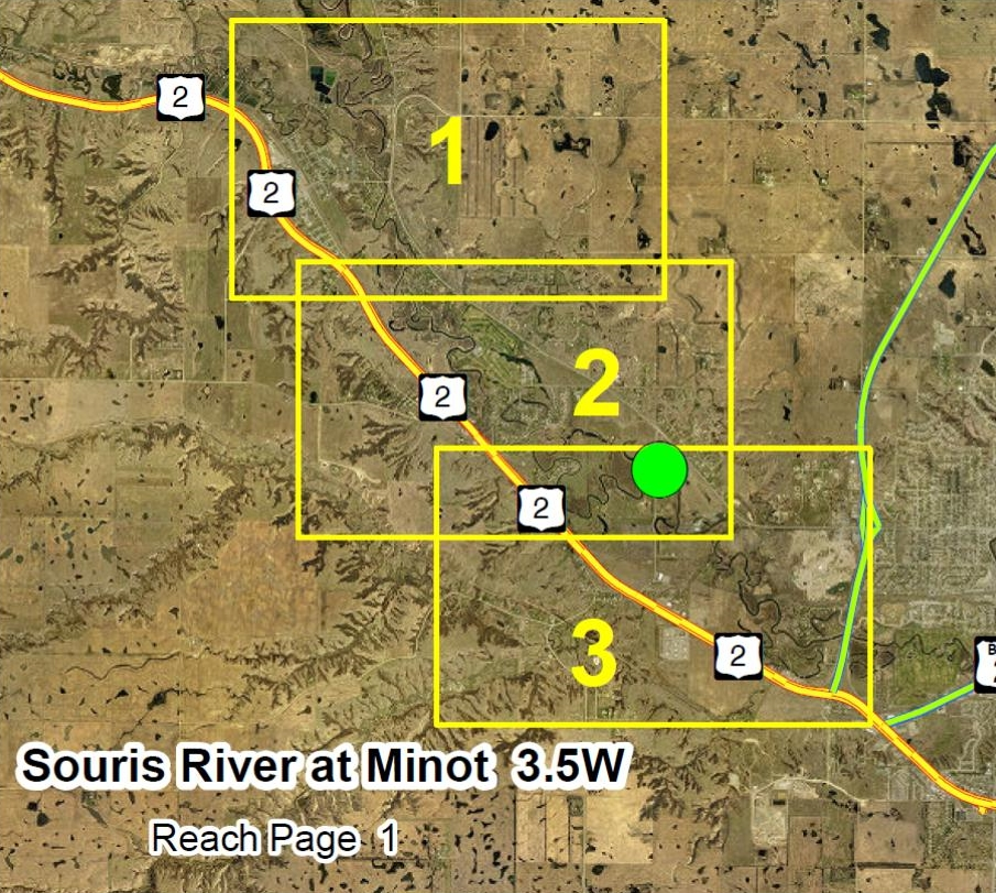 Minot 4 NW Overview Map